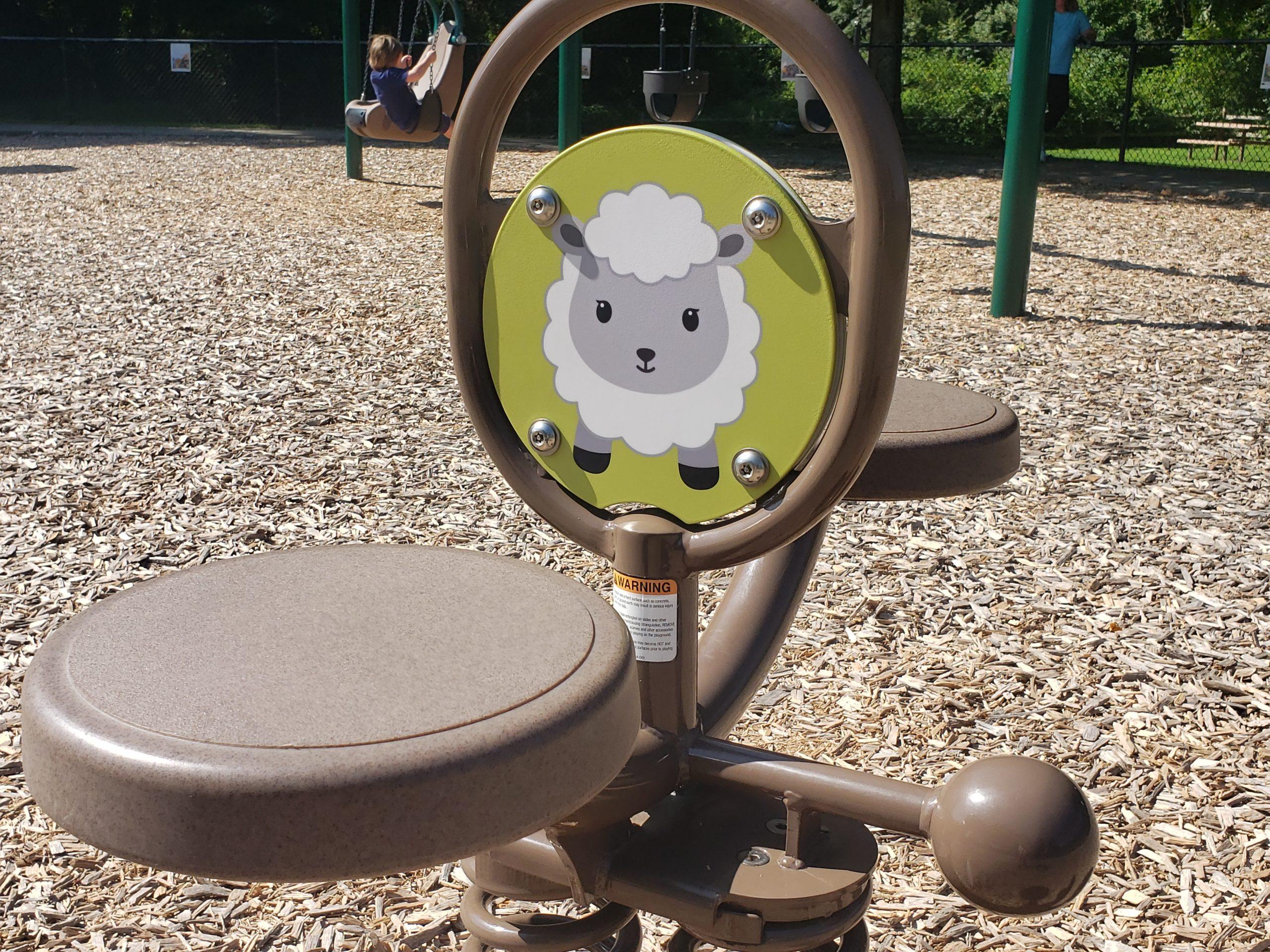 Custom Digifuse Double Bobble Rider at Farm Theme Playground